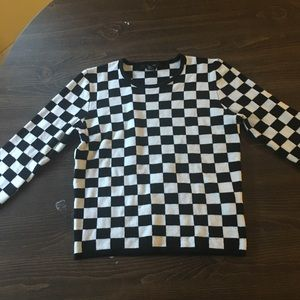 Women's small Forever 21 checkered long sleeve tee
